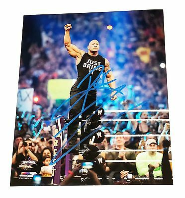 Wwe The Rock Hand Signed Autographed 8X10 Photo File Photo With Coa R2