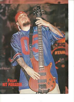 Korn, Fieldy, Munky, Double Sided Full Page Pinup