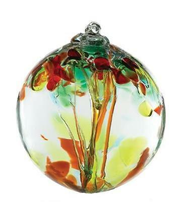 """Witch Ball Kitras 6"""" Tree of Enchantment """"Sisters"""" Glass SunCatcher (SI)"""