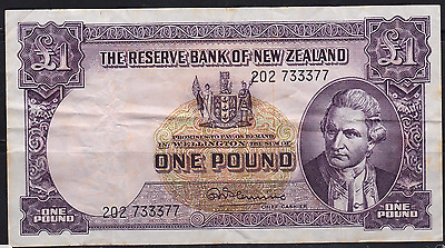 New Zealand 1956-67 £1 Fleming Banknote