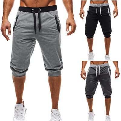 AU STOCK Mens Summer Baggy Casual Jogger Harem Slack Sweat Pants Trousers Shorts