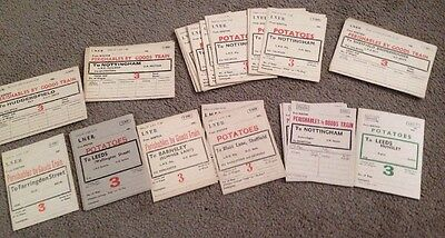 42 Unused Train Ticket For Potatoes & Perishable Goods 1940's & 1 For 1950's
