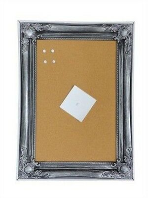 Antique Silver Stylish Shabby Chic Large Cork Pin Memo Notice Board Pinboard