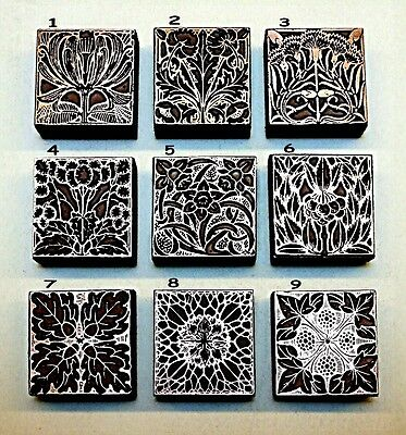 9 ART NOUVEAU BOOKPLATES. Printing Blocks