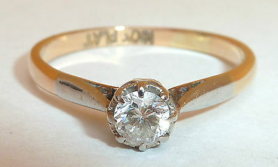 Antique 18Ct Platinum And Diamond Engagement Ring 0.2 Carat Diamond Size O