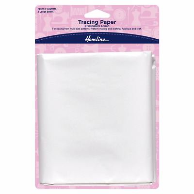 Tracing Paper for tracing patterns, for dressmaking and craft. 3 sheets 76x102cm