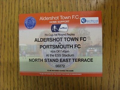19/11/2014 Ticket: Aldershot Town v Portsmouth [FA Cup Replay] (Red Ticket). Tha