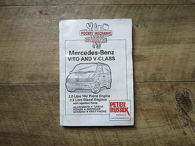 Mercedes Benz Vito and V-class pocket Mechanic Vehicle Manual.