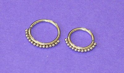 Annealed Surgical Steel Seamless Septum Ring 1.2 Mm By 8 Or 10 Mm