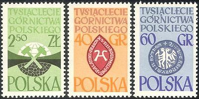 Poland 1961 Coal Mining/Miner/Minerals/Industry/Business/Energy 3v set (n43454)