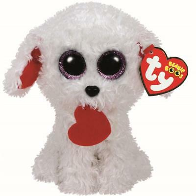 Ty Beanie Babies 37210 Boos Honey Bun the Dog Valentines Boo