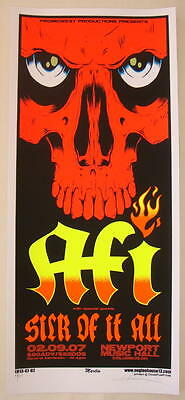 2007 AFI & Sick of It All - Silkscreen Concert Poster S/N by Mike Martin