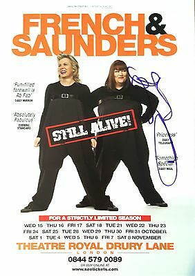 Dawn French - Hand Signed Theatre Flyer + COA