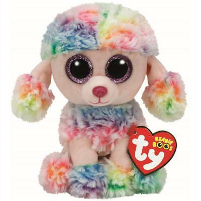 Ty Beanie Babies 37223 Boos Rainbow the Poodle Boo