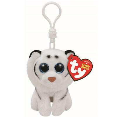 Ty Beanie Babies 36652 Tundra the White Tiger Key Clip