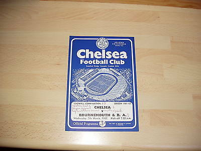 Chelsea Res v Bournemouth Res Football Combination 1961/2