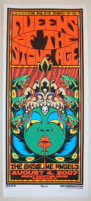 2007 Queens of the Stone Age - Indianapolis Silkscreen Concert Poster s/n Martin