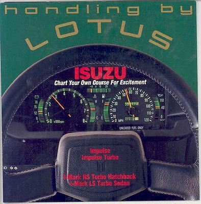 1988 Isuzu Impulse I-Mark Lotus Brochure mx2414-4SMJCV