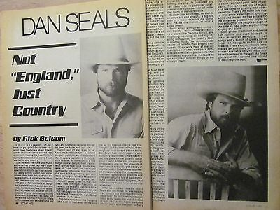Dan Seals, Two Page Vintage Clipping