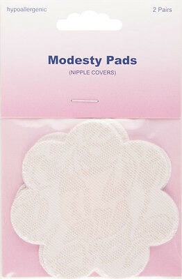 Flower-Shaped Modesty Pads - 2 pairs. Hypoallergenic, self adhesive.