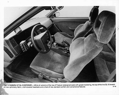 1987 Subaru XT GL10 Interior ORIGINAL Factory Photo oae3952