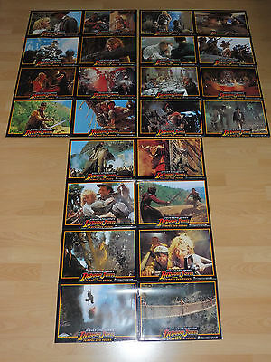 INDIANA JONES AND THE TEMPLE OF DOOM 24 lobby cards ´84  HARRISON FORD Spielberg