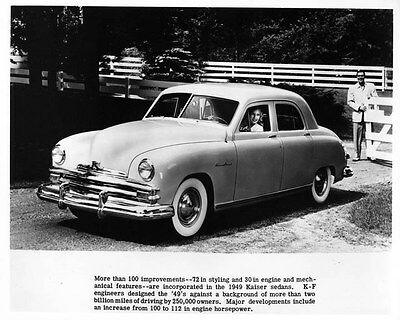 1949 Kaiser Sedan ORIGINAL Factory Photo oae4151