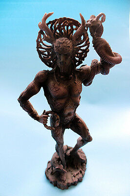 Celtic CERNUNNOS STATUE Wicca Pagan Grey Purple Lord of the Woods Maxine Miller
