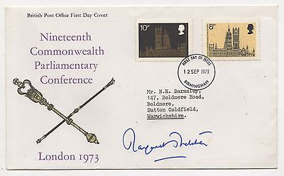 1973 Parliamentary Conference FDC signed Margaret Thatcher.