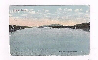 PANAMA Canal Zone antique 1915 db post card view of Completed Canal