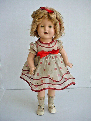 Vintage Ideal Composition Shirley Temple Doll Original Wig and NRA Tagged Outfit