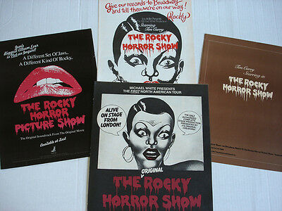 ROCKY HORROR SHOW original full page magazine ad LOT of 4 rare 1974 - 1980