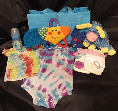 Reborn 0-3 mo  baby Grab & Go Complete Diaper bag doll bottles clothes toy paci