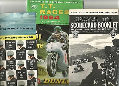 T.T. Races 1964 Official Guide and Programme including map and scorecard booklet