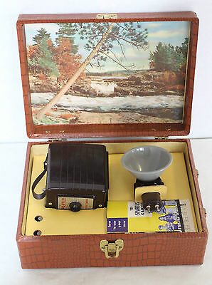 Vintage Spartus 120 Camera With 2 Booklets Insturctions Flash With Travel Case