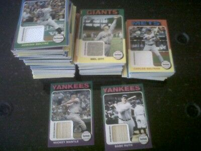 2011 Topps Lineage MINI RELIC complete SET 99 cards