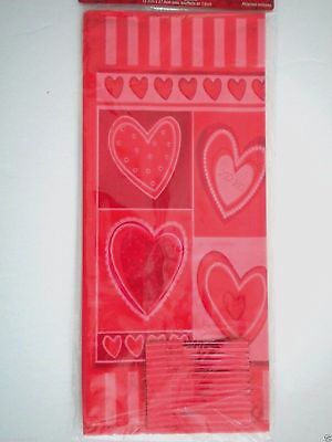 "Pkg. of 25 ""VALENTINE"" Luxury Cello Candy Bags ~ 5"" x 11"" ~ #2"