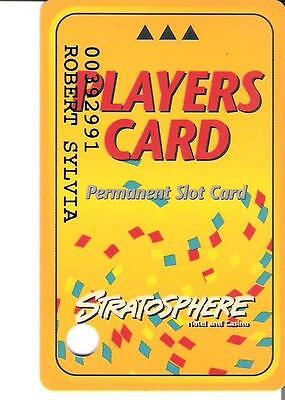 casino slot card - Stratosphere Players Card Permanent Slot Card (var 1)