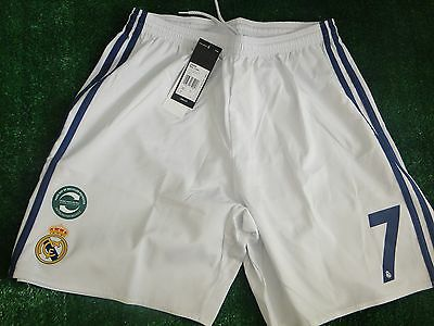 Real Madrid ** Ronaldo ** Home Shorts 2016-17 Size Medium No 7 Bnwt