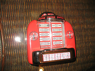 Coca Cola Diner Collection Table Top Juke Box Musical Coin Bank New In Box