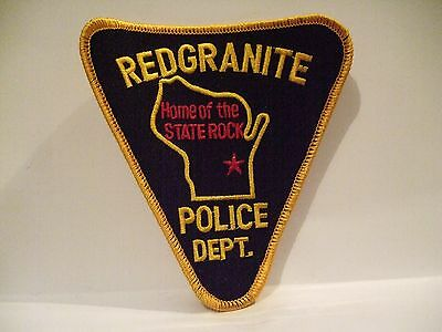 police patch    RED GRANITE POLICE WISCONSIN
