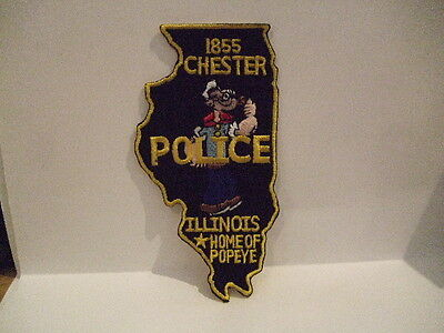 police patch   CHESTER POLICE  ILLINOIS  HOME OF POPEYE