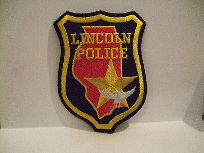 police patch   LINCOLN POLICE  ILLINOIS