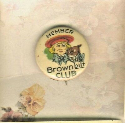 Member Buster Brown Shoe Bilt Club Pinback