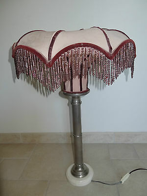ancienne lampe grand abat jour vintage old lampshade
