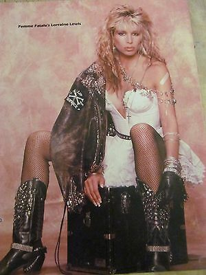 Femme Fatale, Lorraine Lewis, Doro Pesch, Double Full Page Vintage Pinup