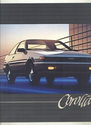 1984 Toyota Corolla Sedan Liftback Coupe Brochure my6628