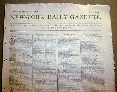 Original newspaper 1789-1797 from GEORGE WASHINGTON Presidential administration