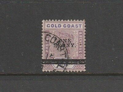 Gold Coast 1901 Opt 1d on 6d Used SG 36