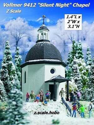 Vollmer Z 9412 Silent Night Chapel With Light Snow Music *NEW *USA DEALER*